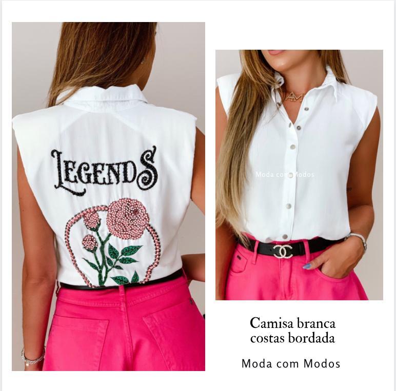 Camisa Bordada Costas