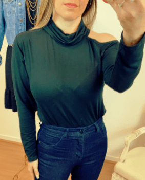 Blusa ombro preta