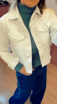 Jaqueta sarja branca