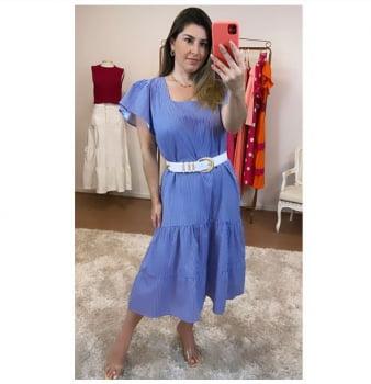Vestido Listras Elegance