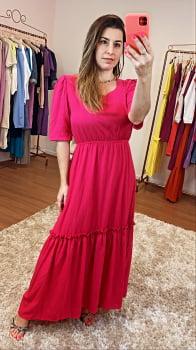 Vestido Pink Longo Basico que Amamos
