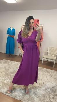 Vestido roxo lástex