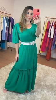 Vestido verde longo Basico que Amamos