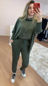 Conjunto Malha Tricô - Verde Militar