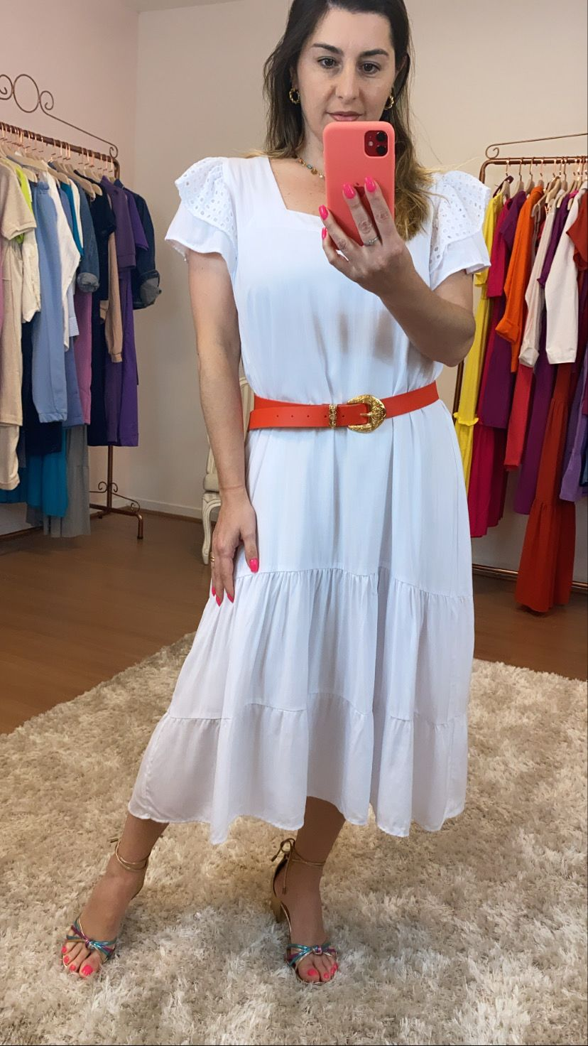 Vestido branco laise